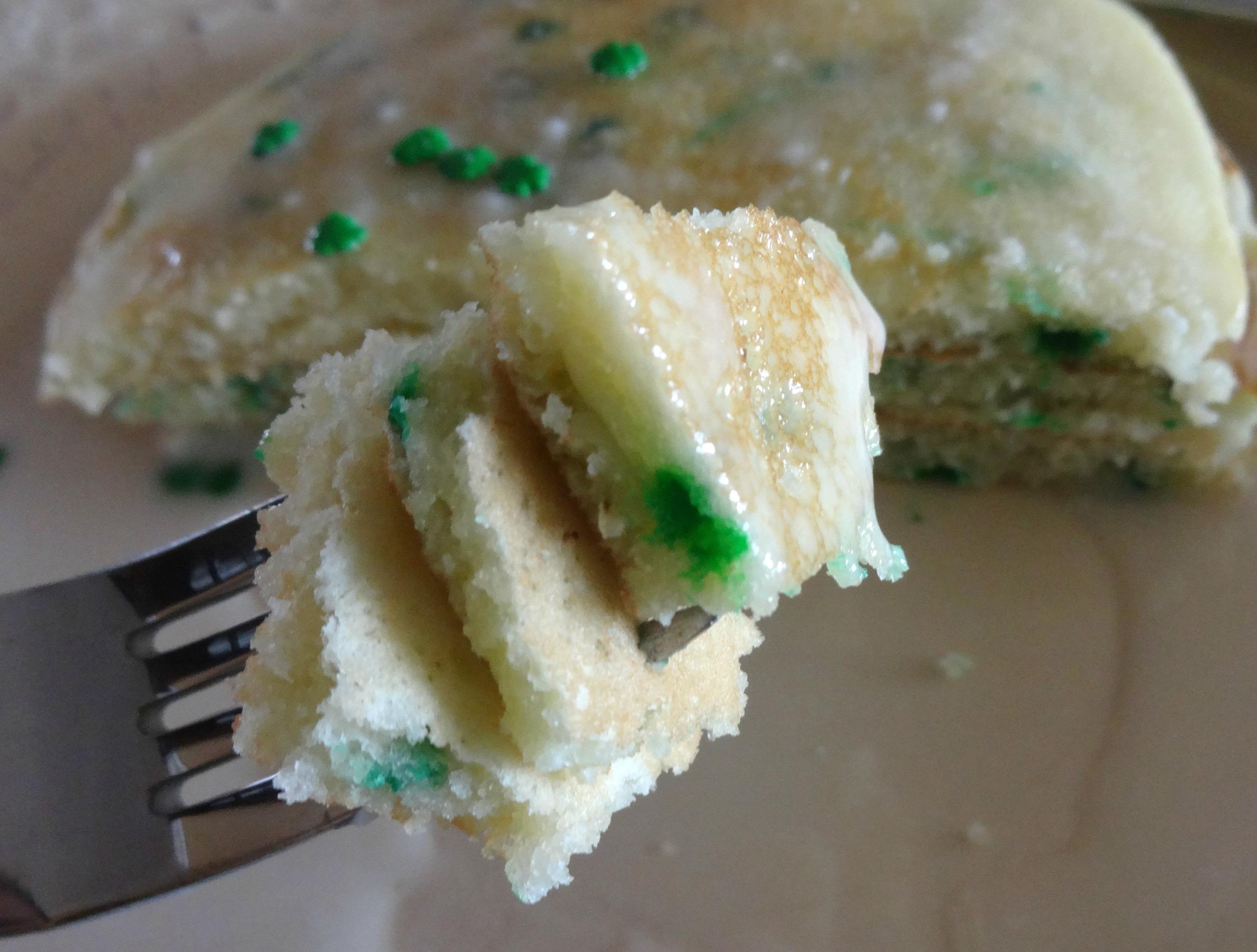 Birthday Cake Pancakes with Homemade Cake Batter Serendipity