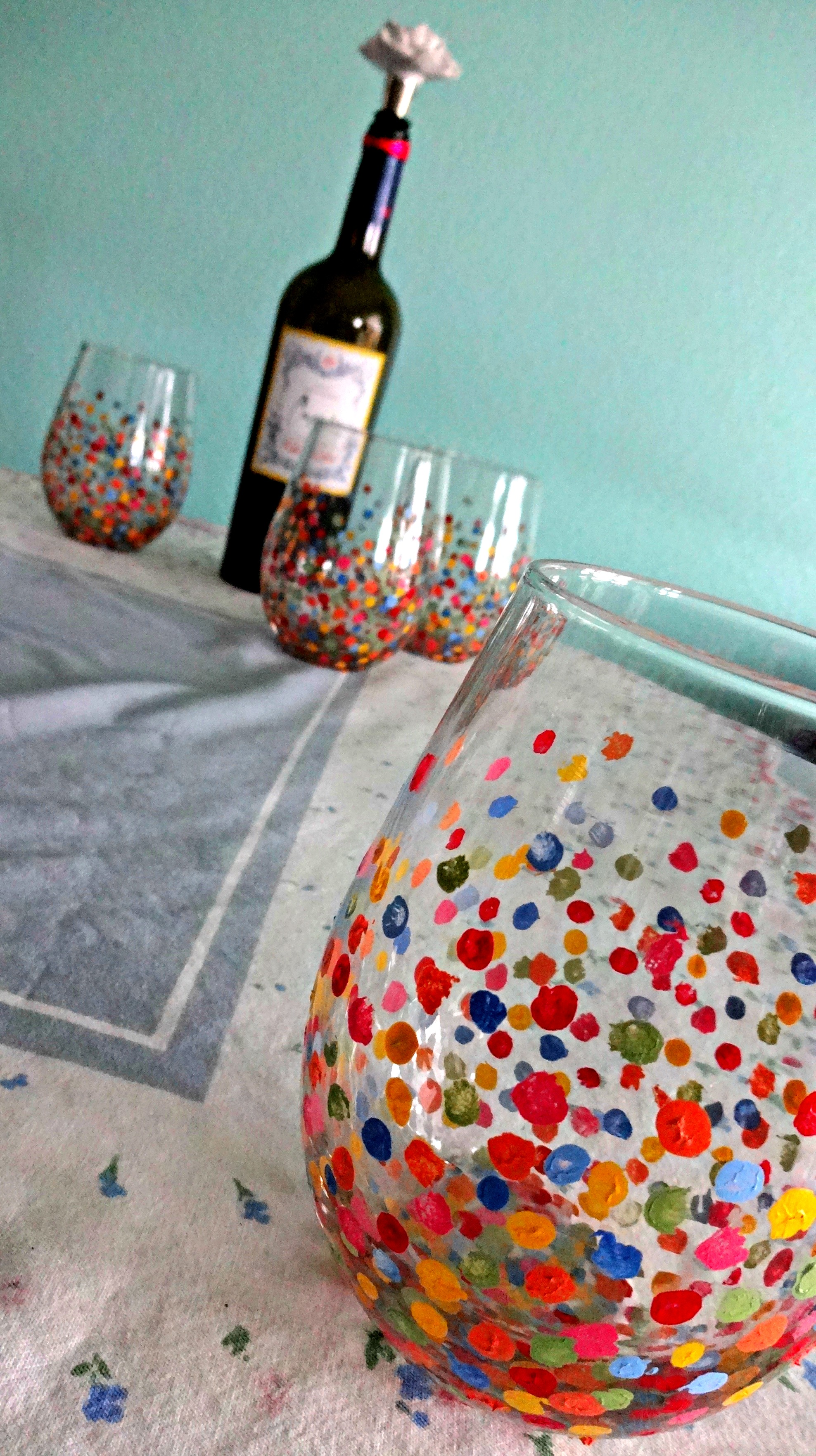 diy painted wine glasses serendipity by sara lynn